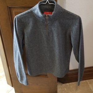 Long sleeve grey fleece top